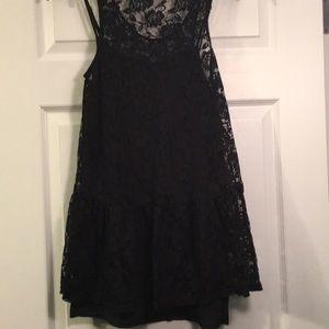 Tops - Black lace tunic dress